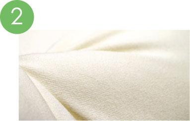 心地よい 日本製の綿ニット